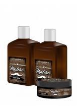 Lé Charmes - Kit Matcho (Shampoo  420ml + Selagem 420ml + Pomada Modeladora 125g) - Lé Charmes