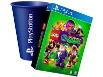 LEGO DC Supervillains Ed. Especial - para PS4 + Copo PlayStation Azul