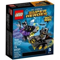 LEGO Super Heroes Poderosos Micros: Batman Contra - Mulher-Gato 4111176061 79 Peças