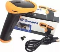 Leitor Código de Barras Wireless Sem fio Knup KP-1018 -