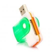 Leitor de Cartão Memória Universal USB - Branco - Outras