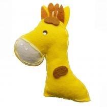 Lembrança Chaveiro Feltro Girafa Amarela - Eva de abreu feltros