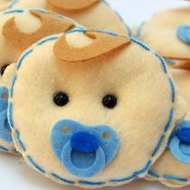Lembranças Chaveiro 30 Unidades Feltro Azul Bebê Chupeta - Eva de Abreu Feltros