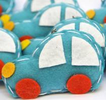Lembranças Chaveiro 30 Unidades Feltro Azul Carro - Eva de Abreu Feltros