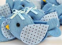 Lembranças Chaveiro 30 Unidades Feltro Azul Pássarinho Poá - Eva de Abreu Feltros
