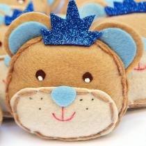 Lembranças Chaveiro 30 Unidades Feltro Azul Príncipe Urso Coroa - Eva de Abreu Feltros