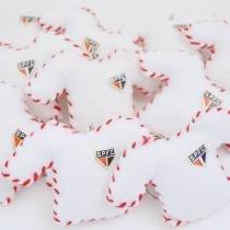 Lembranças Chaveiro 30 Unidades Feltro Branca e Vermelha Camisa São Paulo - Eva de Abreu Feltros