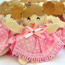 Lembranças Chaveiro 30 Unidades Feltro Rosa Boneca Vestido Lacinho - Eva de Abreu Feltros