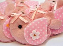 Lembranças Chaveiro 30 Unidades Feltro Rosa Pássarinho Poá - Eva de Abreu Feltros