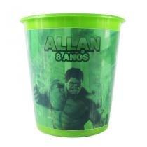 Lembrancinha Balde de Pipoca Personalizado Incrível Hulk - Aluá festas c23557e98a7
