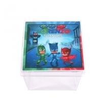 Lembrancinha Caixa Acrílica Personalizada PJ Masks - Aluá Festas