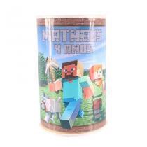 Lembrancinha Cofrinho Personalizado Minecraft - Aluá Festas