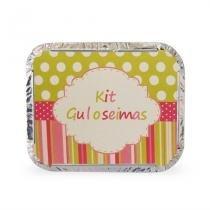 Lembrancinha Marmita Kit Guloseimas Poá Verde e Rosa 10 unidades Duster - Festabox