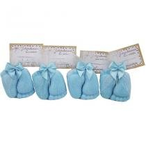 010cc89277fd6 Lembrancinha Sabonete Pézinho com Tag - Azul - Nita baby