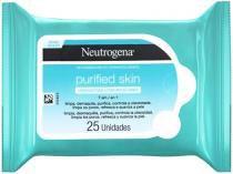 Lenço Demaquilante Neutrogena Purified Skin - 25 Unidades