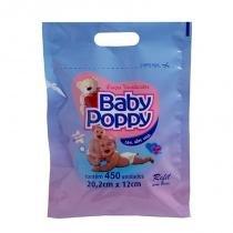 Lenço Umedecido Baby Poppy Refil Com 450 Unidades -