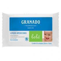 Lenço Umedecido Granado Bebê Peles Sensiveis 50 Unidades -
