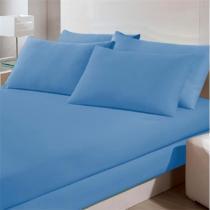 Lençol Avulso Buettner - Solteiro - Malha 200 - Azul Riviera - Buettner