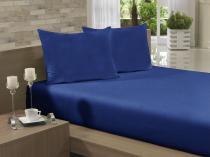 Lençol Avulso Kingsize Extra 280x290 Azul Jeans Soft - Soft