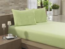 Lençol Avulso Solteiro 135x240 Verde Claro Soft - Soft