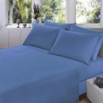 Lençol King 270X250cm Royal Plus Azul Santista -