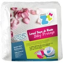 Lençol para Berço Fibrasca - Universo ZZZ Toque de Rosas