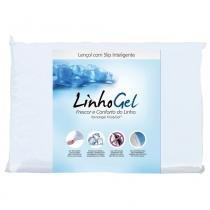 Lençol Solteiro Protege Linhogel Permeável 90x190  cm - Bege - Fibrasca