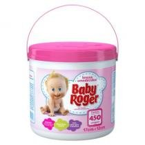 Lenços umedecidos baby roger balde 450 un.rosa -