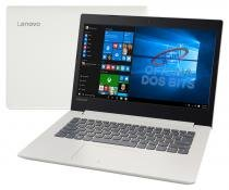 "Lenovo Ideapad 320 - Tela 14"", Intel Core i3 6006U, 4GB, HD 500GB, Windows 10 - Branco - 80YF0008BR -"