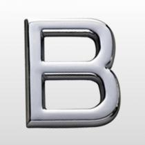 Letra Sinalização (B) 39mm Auto Adesiva Em Abs Cr  Bemfixa - BEMFIXA