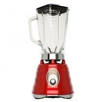 Liquidificador oster clássico vermelho com jarra de vidro -