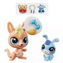 Littlest Pet Shop Vigor Springley e Hoppity Blue - Hasbro -