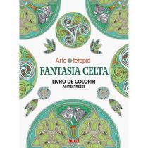 Livro de colorir fantasia celta alaude 058105 -