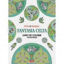Livro para Colorir Antiestresse Fantasia Celta 103878 Editora Alaúde - Alaude