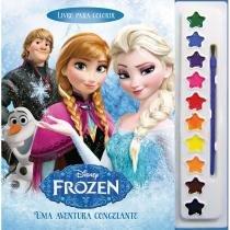 Livro para Colorir Frozen Uma Aventura Congelante Disney Aquarela DCL DCL
