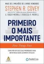Livro - Primeiro o mais importante -