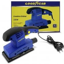 Lixadeira Elétrica Orbital Para Madeira Metal Plástico Goodyear 135W 10.000 RPM 110V Azul GYSS 8515 -
