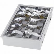 Luminária de Embutir Alto Rendimento 4X E27 Aleta - Comprenet