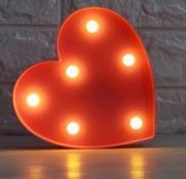 Luminária Led Coração Fwb Vermelho -