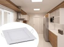 Luminária LED de Embutir Quadrada 12W Branca Fria - Bivolt - OD Led