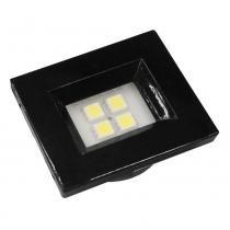 Luminária Pontual Retangular Preta Super LED Branco Quente - Nuze/Artetílica