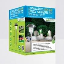 Luminária Solar Inox Ecoforce Super LED - Ecoforce