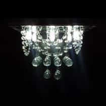Lustre de Cristal quadrado 30x30cm com alças + Lâmpada LED 220V - Kasa arq