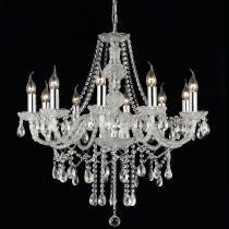 Lustre em Cristal Translúcido e Metal Cromado 900410 - Markine Mobilier-Bivolt - Pier Iluminação