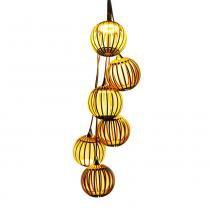 Lustre LED Pendente de Madeira Conjunto Garlic - Bivolt - E-led Brasil