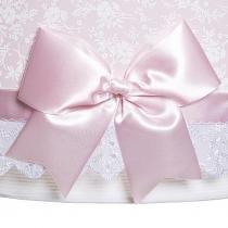 Lustre Tubular Duplo Rosa Com Laço Quarto Bebê Infantil Menina - Potinho de Mel