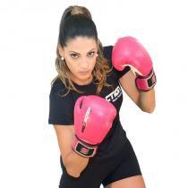 Luva de Boxe e Muay Thai Profissional Proaction Pink - 12Oz - ProAction