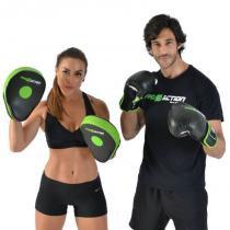 Luva de Boxe e Muay Thai Profissional Proaction Preta - 14Oz - ProAction
