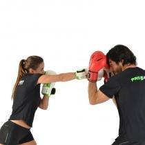 Luva de Boxe e Muay Thai Profissional Proaction Vermelha - 14Oz - ProAction