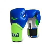 Luva de Boxe Everlast Pro Style 14Oz azul/verde - Everlast